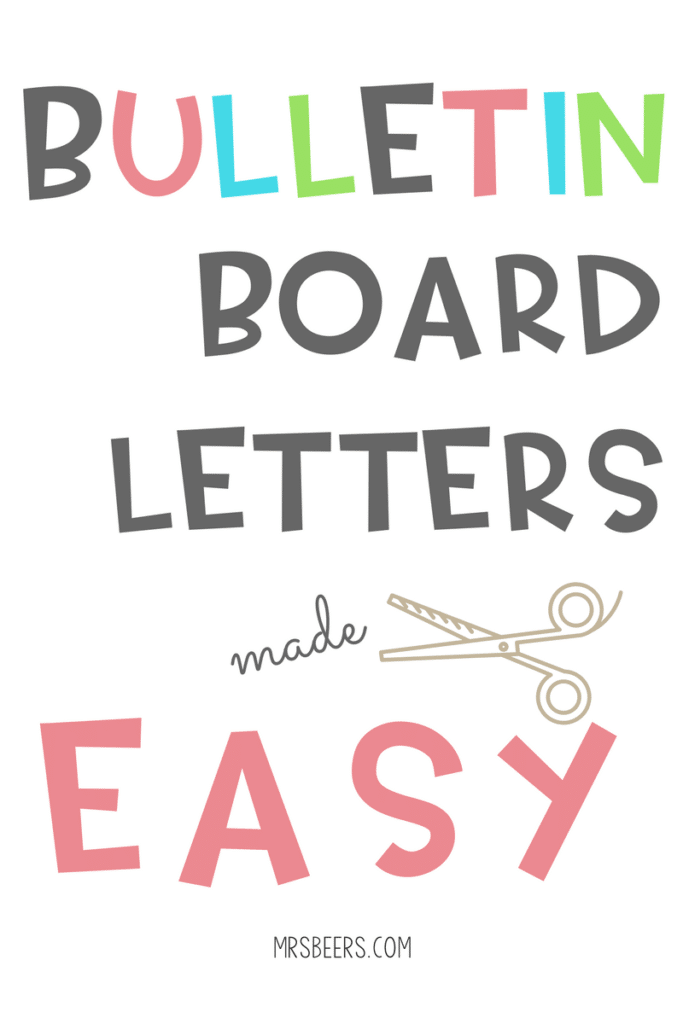 Bulletin Board Letters Made Easy Weny News